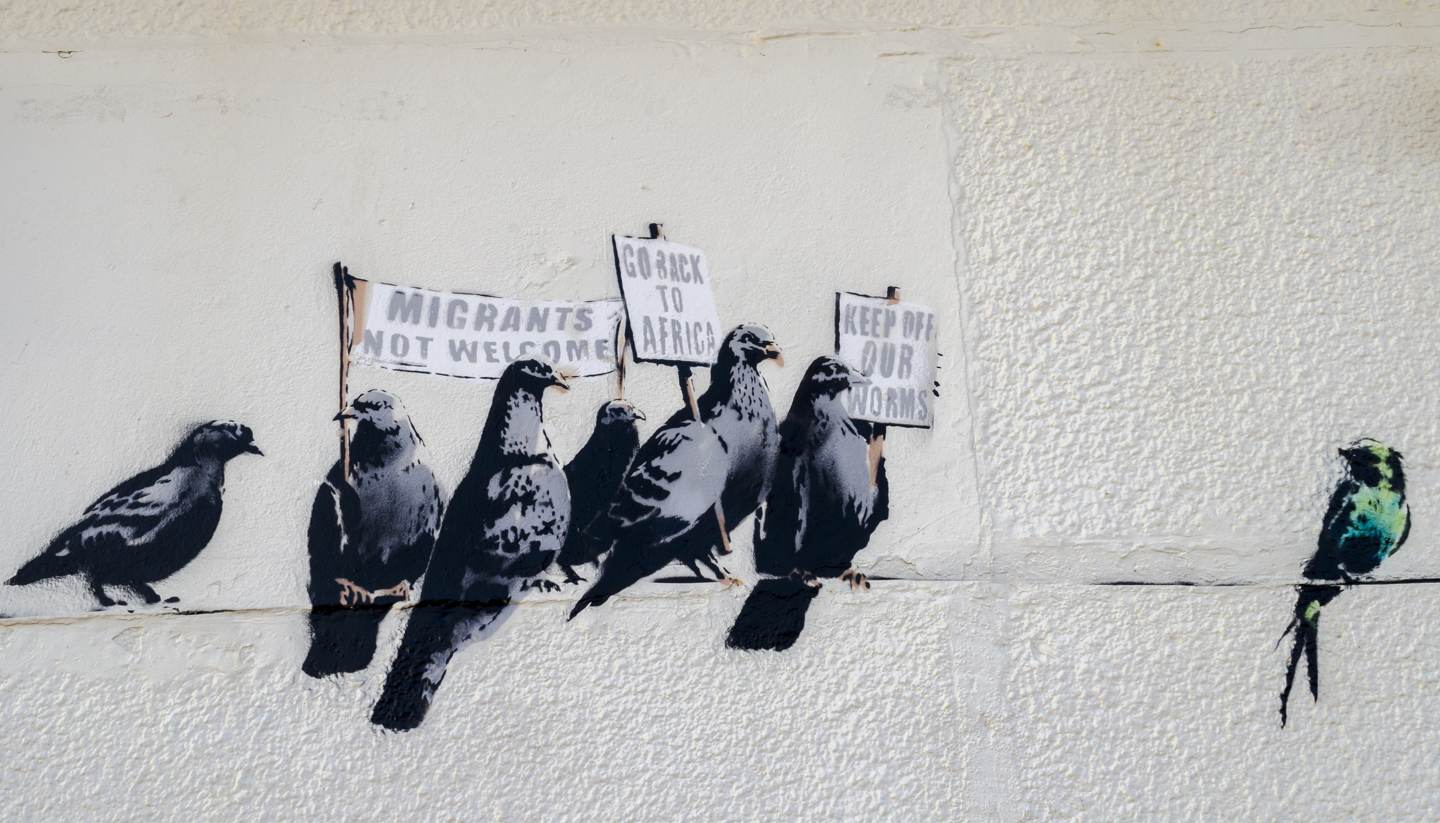 It's not just Banksy who's bankable - Controversial Banksy art work at Clacton-on-sea