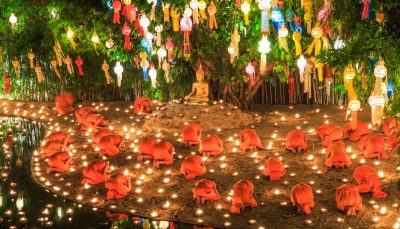 Loi Krathong - Wat Phan Tao temple