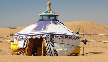 Mongolian yurt in Gobi Desert