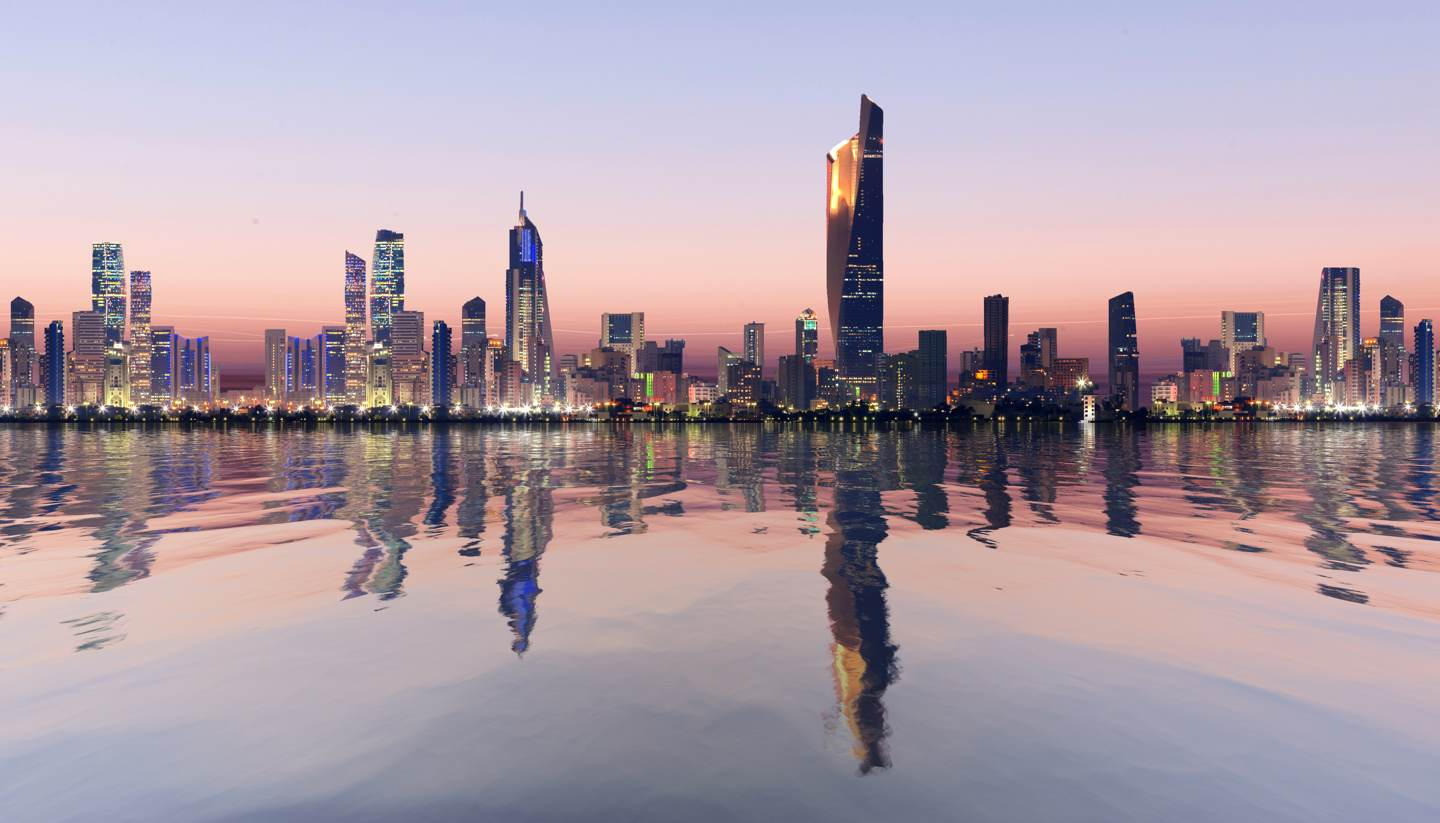 City Highlight: Kuwait City - Kuwait City skyline at dawn