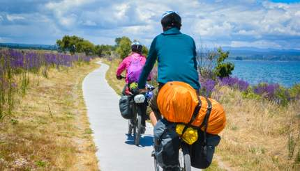 Cycling is an adventurous way to explore New Zealand