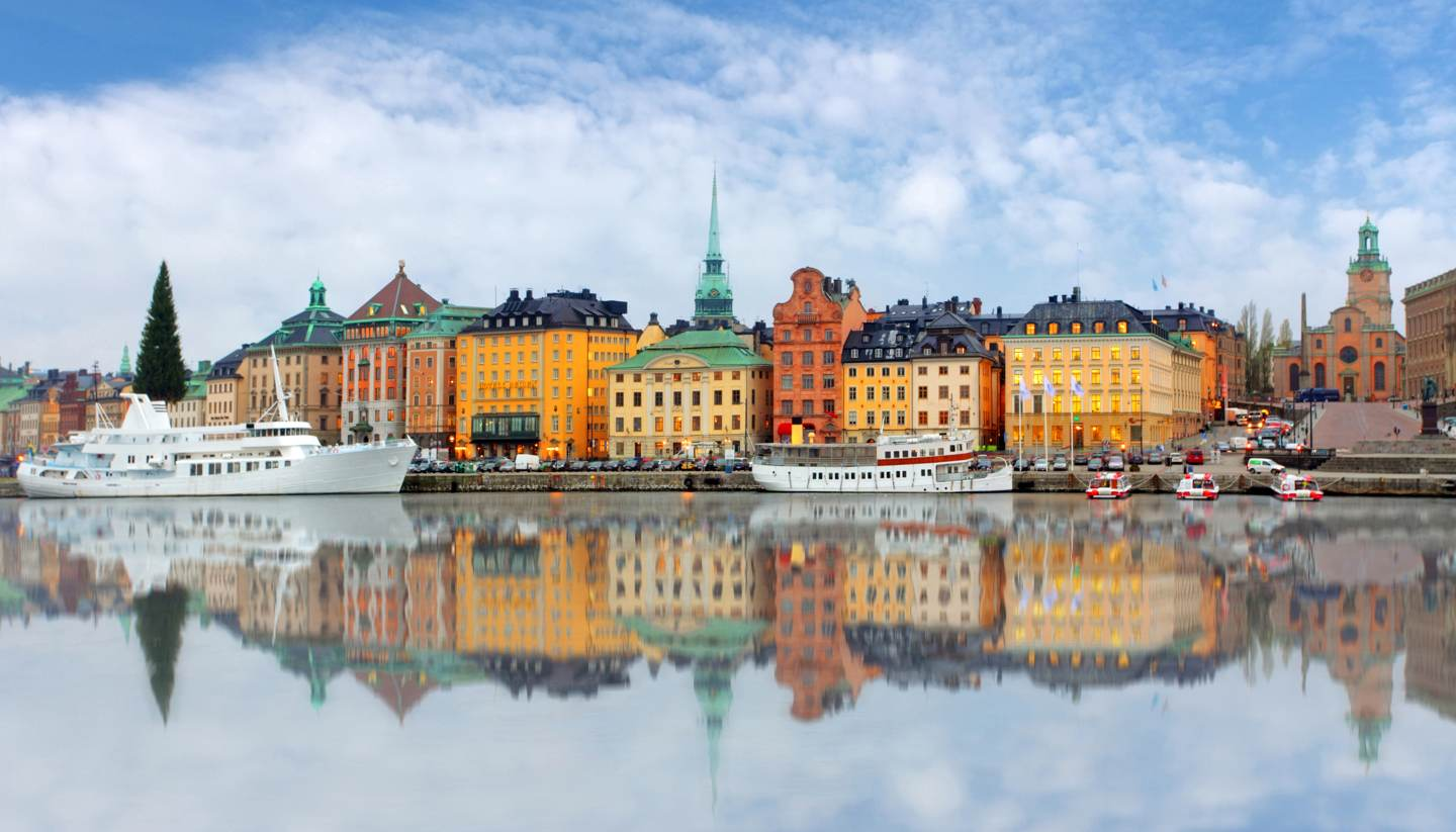 Where to go on holiday in January 2018 - Panoramic view of Old Town pier, Stockholm