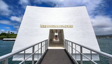 Entrance to the USS Arizona memorial