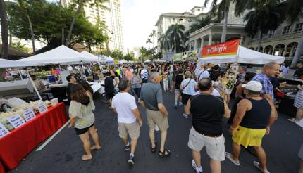 Coincide your visit with the Honolulu street festival held on Kalakaua Avenue
