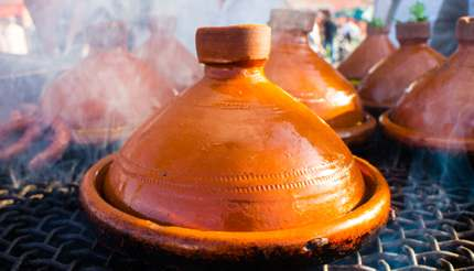 Tagine is named after the earthenware pot in which it is cooked