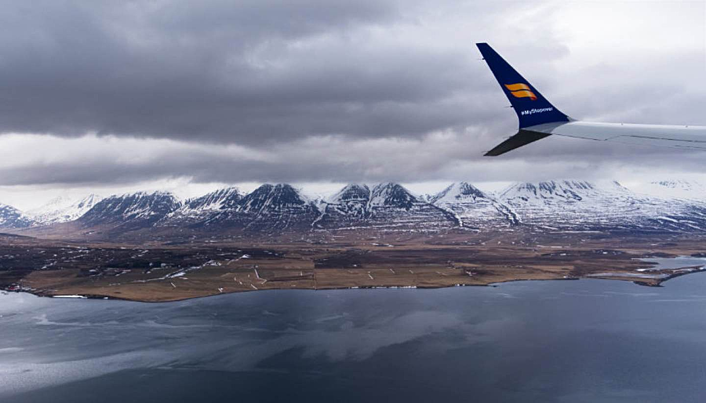 Iceland By Air – Iceland Sightseeing in a Boeing 737 Max 8 - Flying over Eyjafjörður Fjord