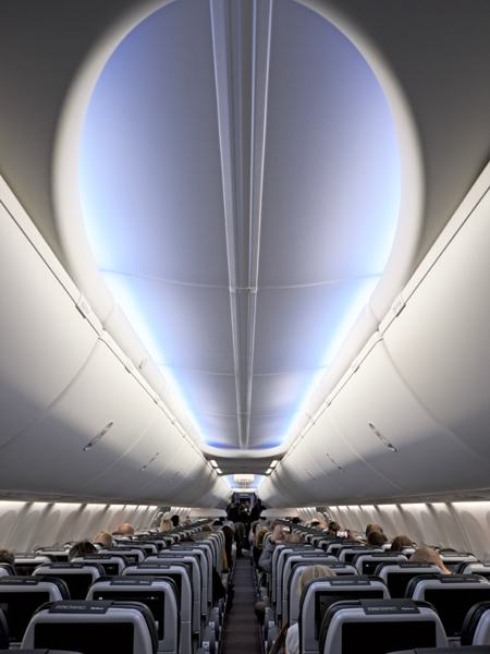 Interior of the Boeing 737 Max 8