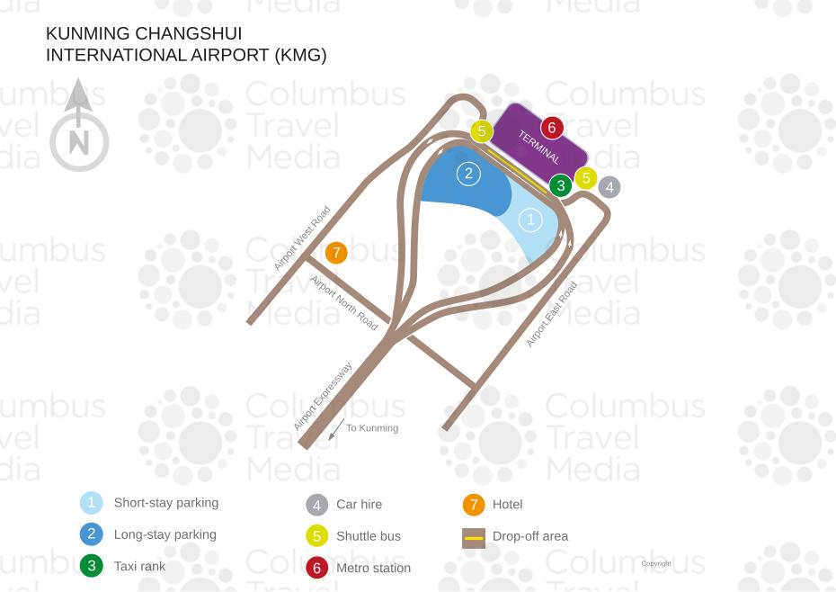 Kunming Metro Map.Kunming Changshui International Airport World Travel Guide