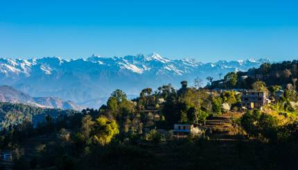 Nagarkot village - View of Himalayas