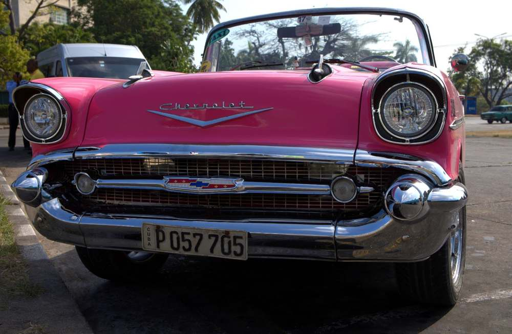 A charming old car in Havana