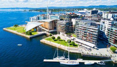 Harbour at Aker Brygge neighbourhood