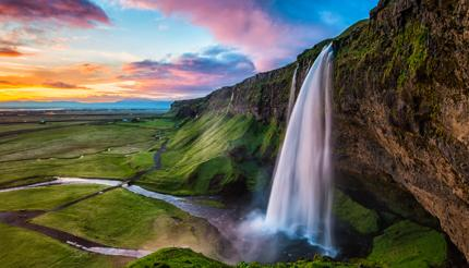 Seljalandsfoss is located in the South region by Route 1.