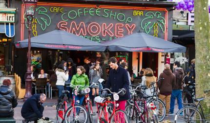 Coffeeshop in Amsterdam