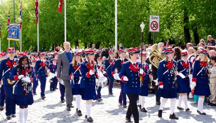National Day of Norway - children marching band