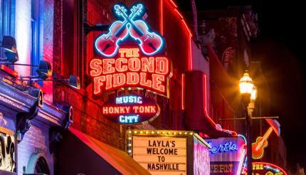 Lower Broadway in Nashville, Tennessee