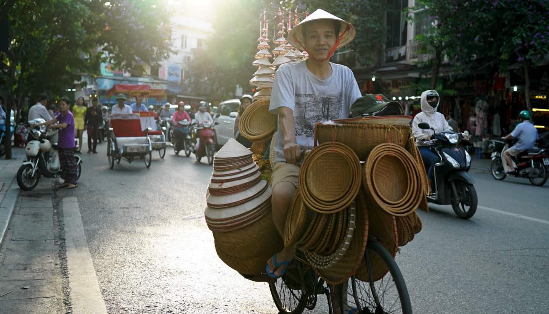 Where to go on holiday in June 2018 - Street vendor, Hanoi, Vietnam