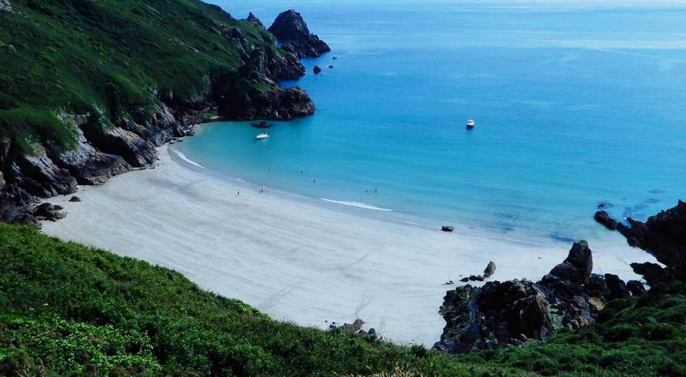 Petit Port, one of the best beaches in Guernsey