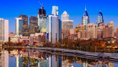 Philadelphia, Skyline on the Schuylkill River