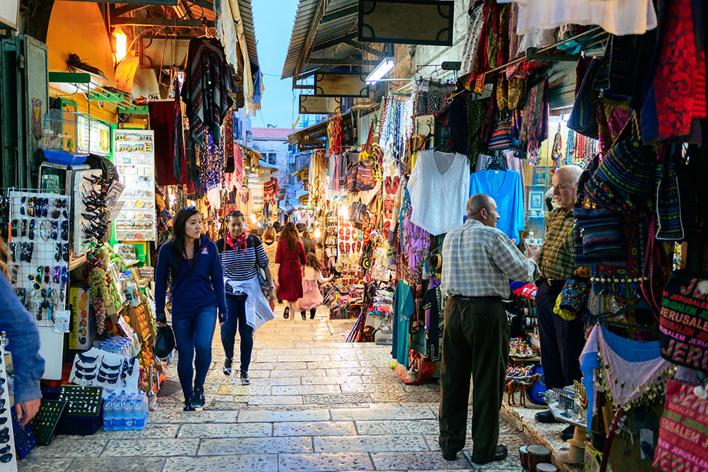Oriental market in old Jerusalem