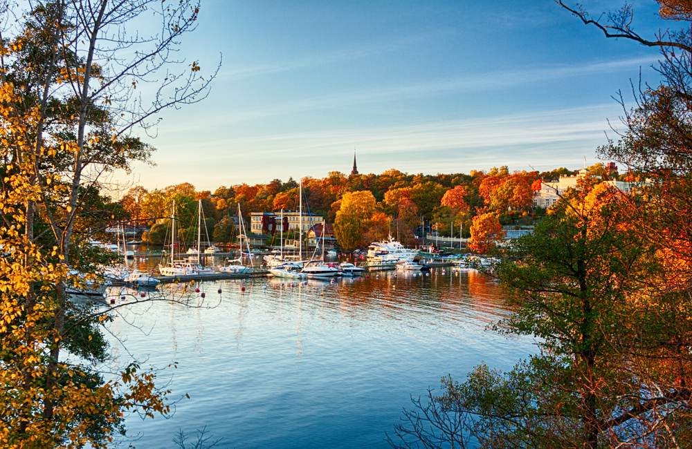Waldemarsudde Bay, Stockholm in Autumn