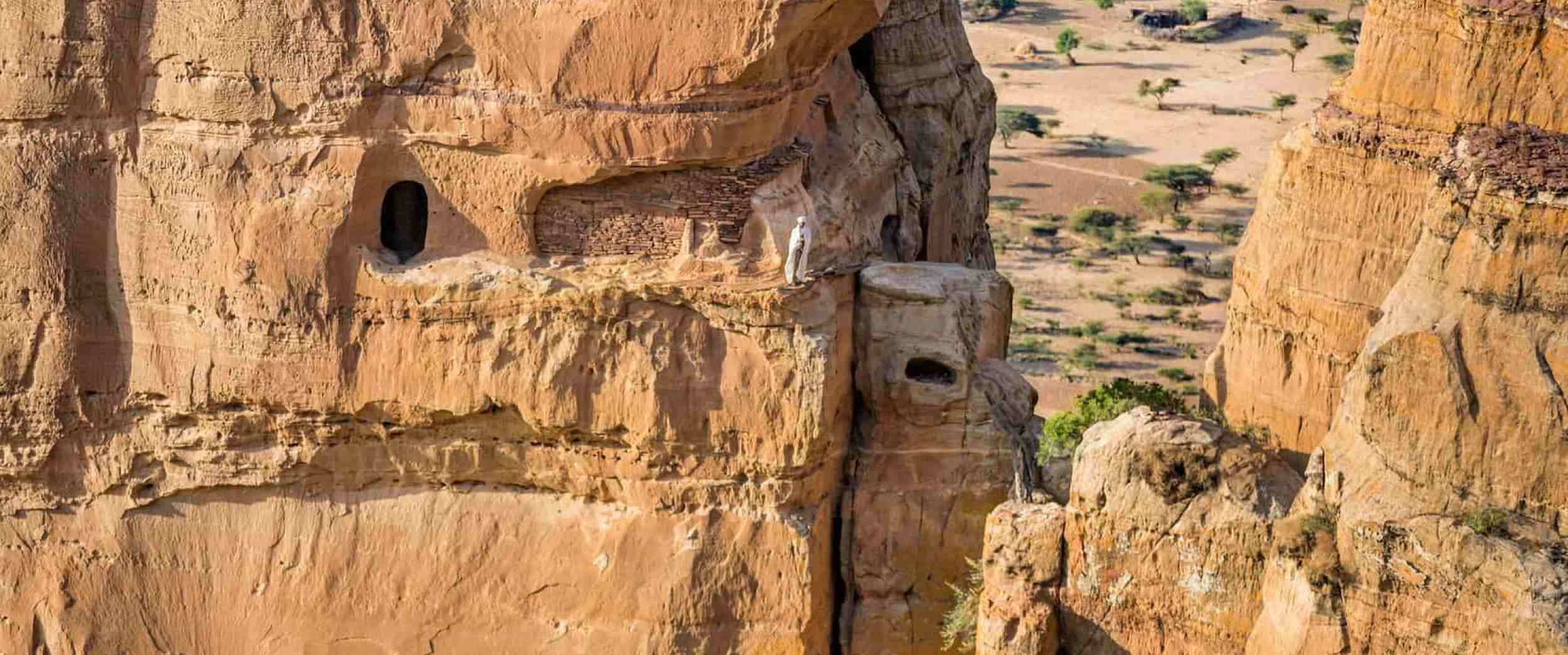 Undiscovered Ethiopia: <br />Abuna Yemata Guh in Tigray - An aerial shot of Abuna Yemata Guh by the Guardian