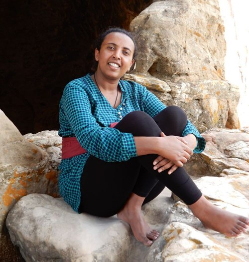 My friend Meron from the Ethiopian Tourism Organisation
