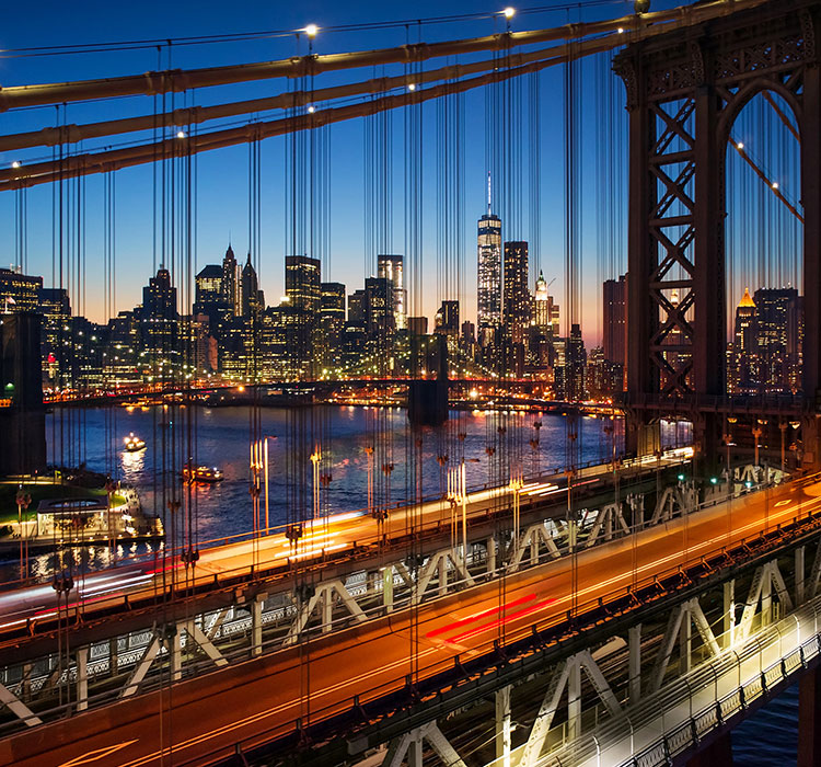 New York, Manhattan, Brooklyn bridge