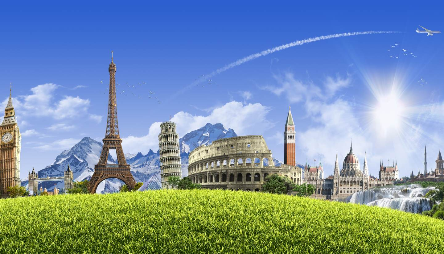 Travelling to Europe without a Visa - Landmarks in Europe