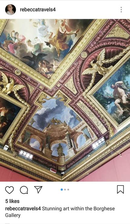 Beautiful art at the Borghese Gallery