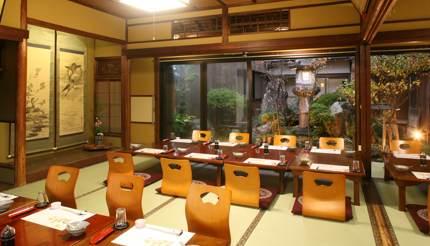 Traditional Japanese ryokan with tatami mats
