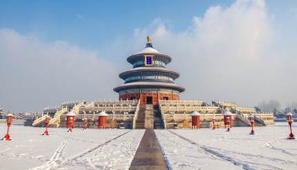 Snow-covered Temple of Heaven, Beijing