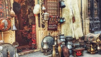 Lovely shops within the Old City, Baku, Azerbaijan