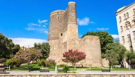 The 12th-century Maiden Tower, Baku, Azerbaijan