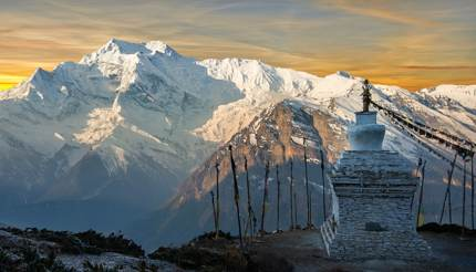 View from the Annapurna mountains