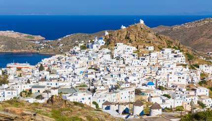 Chora Town in Ios, Greece