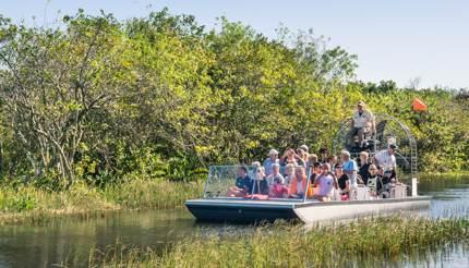 Tourists at Everglades National Park