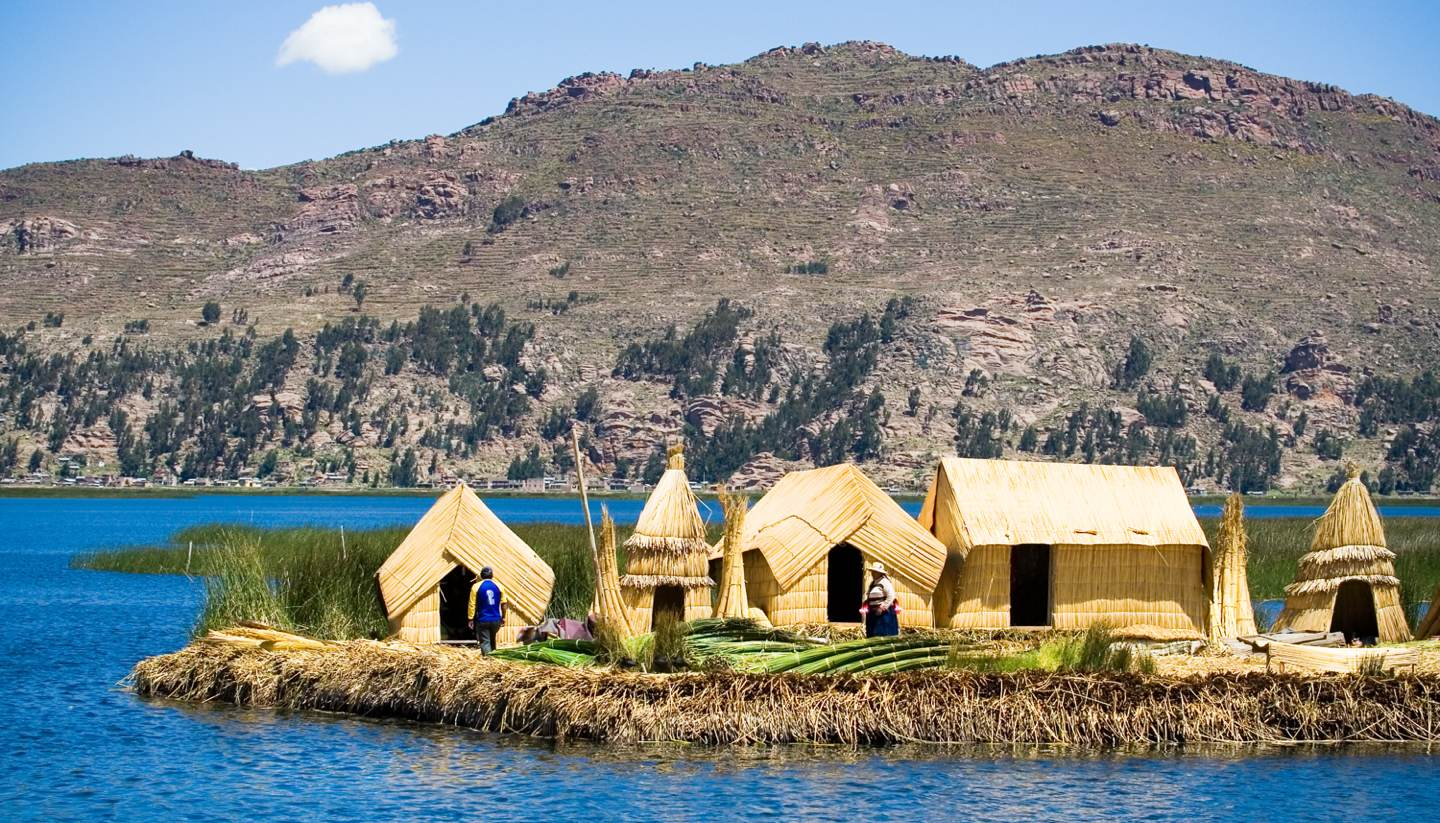 20 islands you never knew existed - Uros Floating Islands, Lake Titicaca, Peru