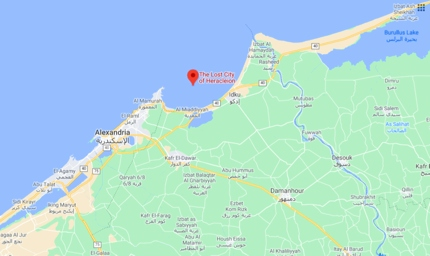 The Lost City of Heracleion on Google Maps