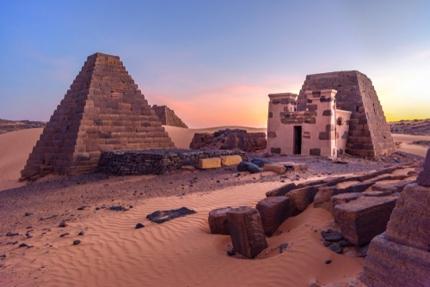 Pyramids in Meroë, Sudan