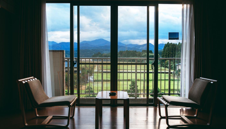 The rooms at Tsurugi Koizuki enjoy stunning views