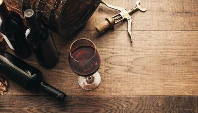 Wine glasses-corkscrew-barrel