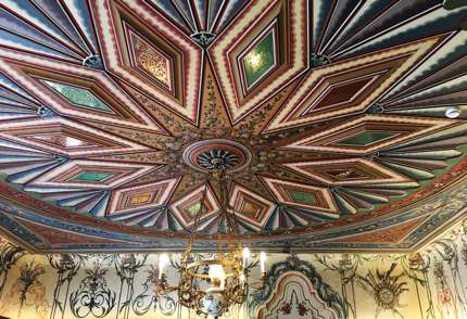 Every ceiling is unique and this is a beautiful ceiling at Hindliyan House
