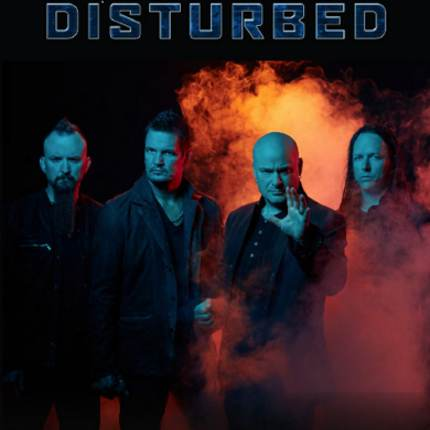 Promo poster for heavy-metal band Disturbed