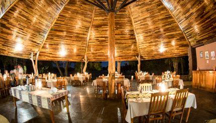 Hlane Ndlovu Camp dining hall