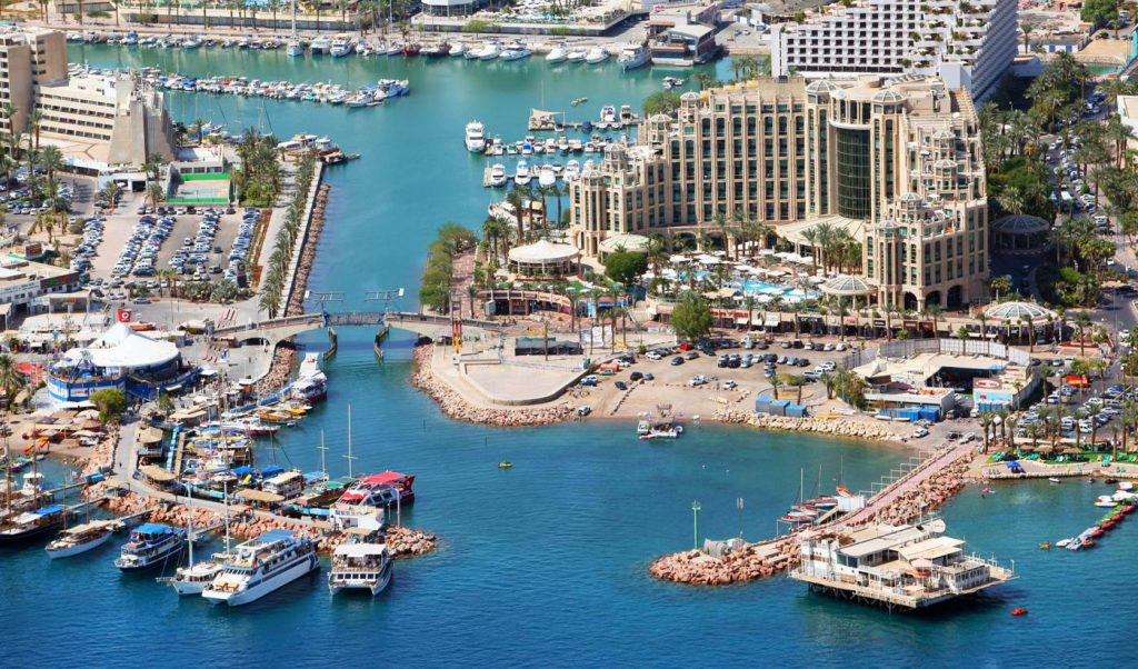 Eilat - Aerial view of Eilat