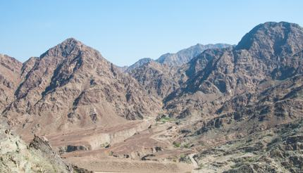 The Hajar Mountain range is perfect for a cycling adventure