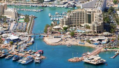 Aerial view of Eilat