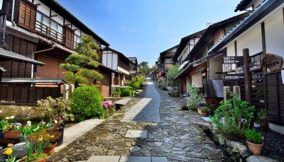 Magome-juku, old Japanese road passing through Nakasendo's station town
