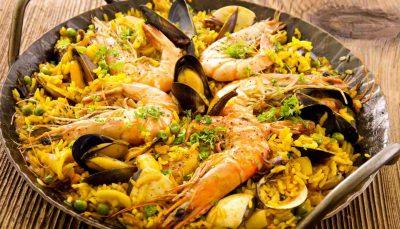 Seafood paella-Barcelona food