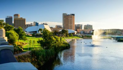 Adelaide city skyline - Adelaide city travel guide